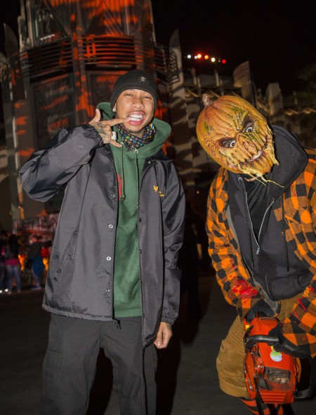 "Tyga at Universal Studios Hollywood's ""Halloween Horror Nights"" on Saturday, September 23, 2017."
