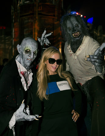 "Paris Hilton at Universal Studios Hollywood's ""Halloween Horror Nights"" on Thursday, October12, 2017."