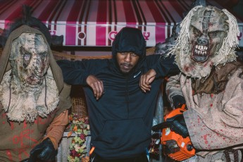 "Kendrick Lamar at Universal Studios Hollywood's ""Halloween Horror Nights"" on Friday, October13, 2017."