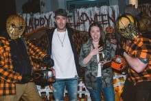 "Jesse and Joy Huerta Uecke at Unviersal Studios Hollywood's ""Halloween Horror Nights"" on Sunday, October 15, 2017."