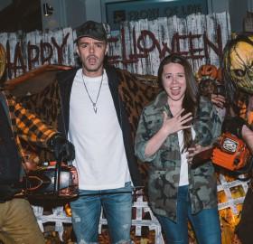"Jesse and Joy Huerta Uecke at Unviersal Studios Hollywood's ""Halloween Horror Nights"" on Sunday, October 15, 2017."