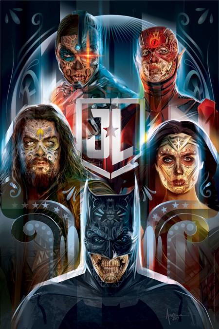 Justice league_ muertos_Orlando Arocena_ mexifunk_vector art-201
