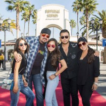 Pepe Aguilar and family at Universal Studios Hollywood on Monday, February 5, 2018.